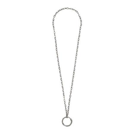Gucci Halskette mit Ouroboros-Anhänger grau