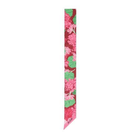 Gucci Halsschleife aus Seide mit Print von Ken Scott rot