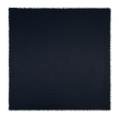 Gucci Halstuch aus Seide und Wolle mit GGJacquard schwarz