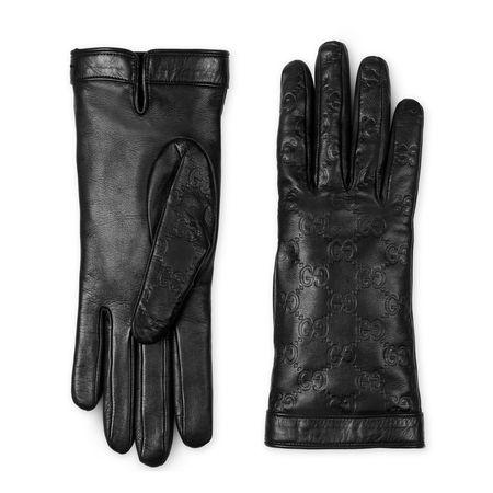 Gucci Handschuh aus  Signature Leder schwarz