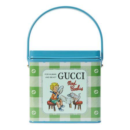 """Gucci Henkeltasche mit  """"Mad Cookies""""-Print blau"""