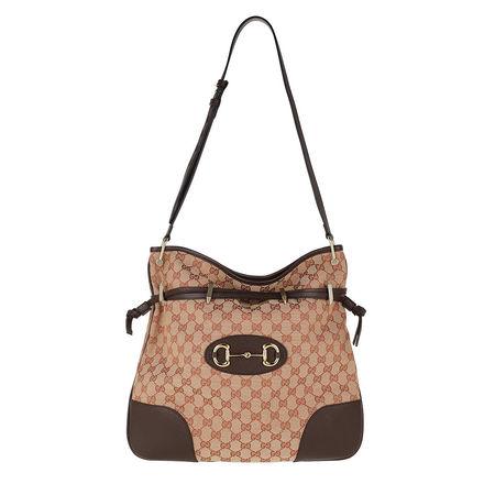 Gucci  Hobo Bag - Horsebit Shoulder Bag - in fawn - für Damen braun