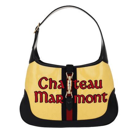Gucci  Hobo Bag  -  Jackie Hobo Bag Medium Chateau Marmont Yellow  - in gelb  -  Hobo Bag für Damen schwarz