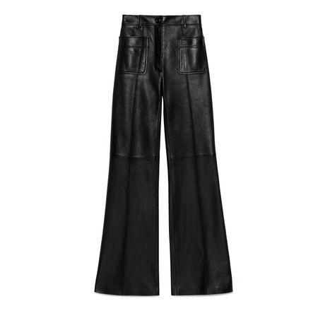 Gucci Hose aus Leder schwarz