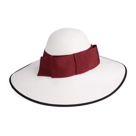 Gucci Hut mit breiter Krempe grau