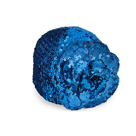 Gucci Hut mit Pailletten und Blumen-Applikation blau
