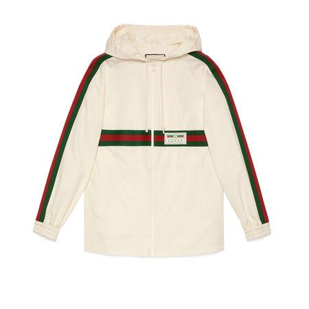 Gucci Jacke aus Baumwolle mit Etikett beige