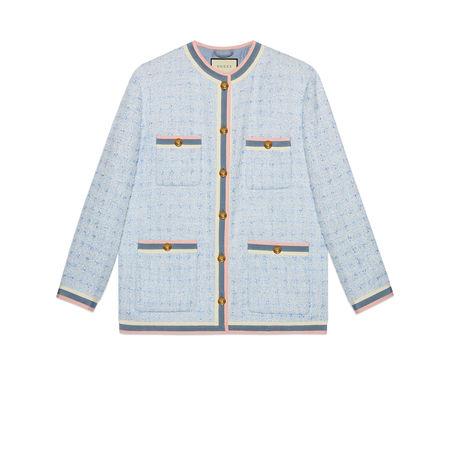 Gucci Jacke aus Tweed grau