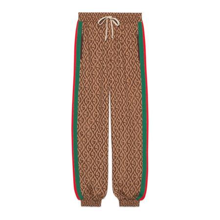 Gucci Jogginghose mit GRhombus-Print braun