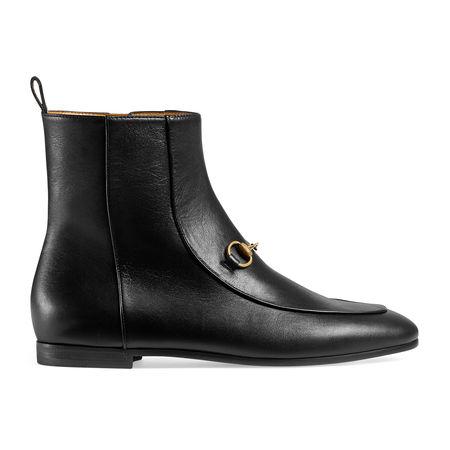 Gucci  Jordaan Stiefelette aus Leder schwarz