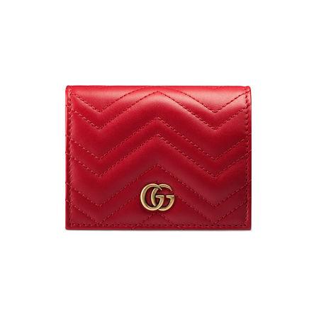 Gucci Kartenetui GG Marmont rot