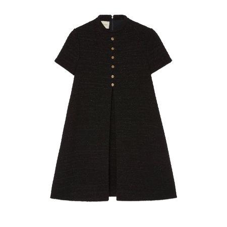 Gucci Kleid aus Lamé-Tweed schwarz