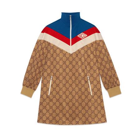 Gucci Kleid aus technischem GGJersey braun