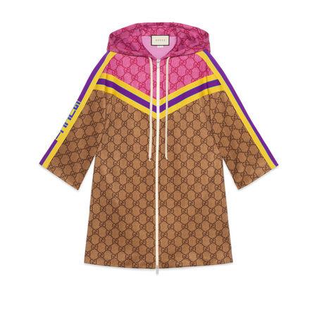 Gucci Kleid aus technischem GG Jersey braun