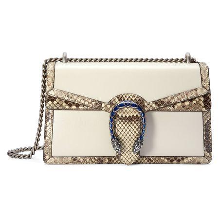 Gucci Kleine Dionysus Schultertasche mit Pythonleder-Besatz