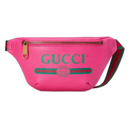 Gucci Kleine Gürteltasche mit  Print pink