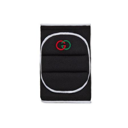 Gucci Knie-Detail mit Stickereien schwarz