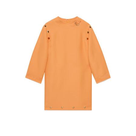 Gucci Kurzes Cady-Kleid aus Wolle und Seide orange