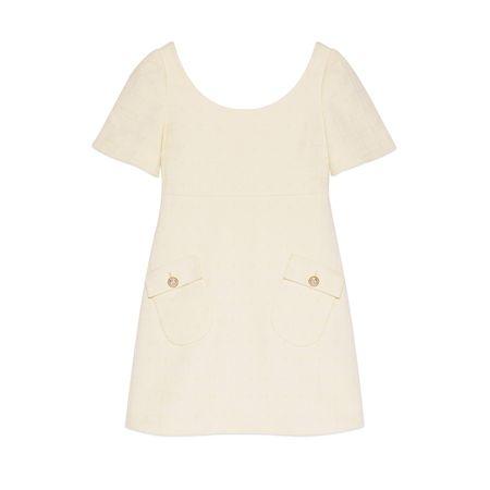 Gucci Kurzes Kleid aus Tweed beige