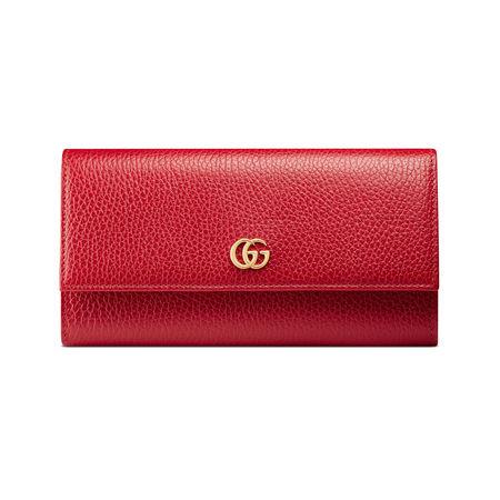 Gucci Lange Brieftasche aus Leder rot