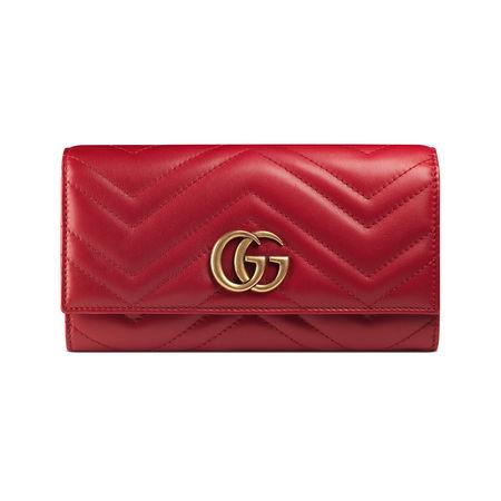 Gucci Lange Brieftasche GG Marmont rot