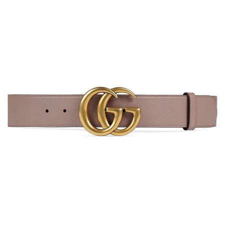 Gucci Ledergürtel mit GG-Schnalle braun