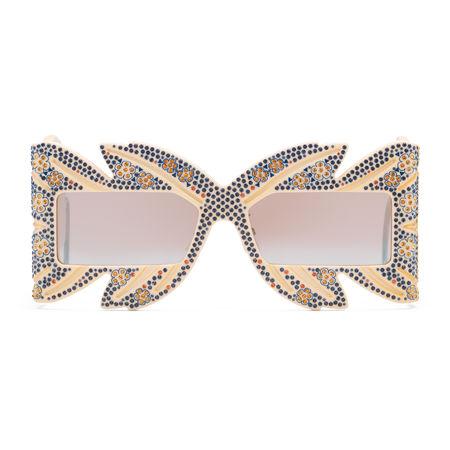 Gucci Limited Edition Masken-Sonnenbrille mit Kristallen braun
