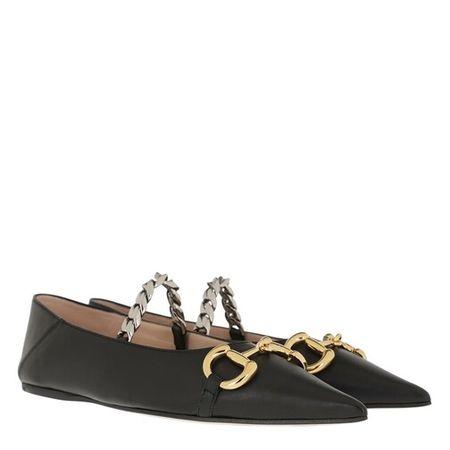 Gucci  Loafers & Ballerinas - Deva Horsebit Ballerinas Leather - in schwarz - für Damen