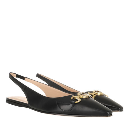 Gucci  Loafers & Ballerinas - Low Slingback Strap Pumps Leather - in black - für Damen schwarz