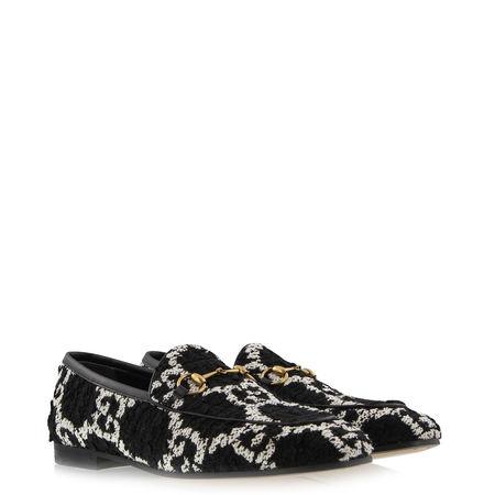 Gucci  - Loafers Jordan aus Tweed schwarz