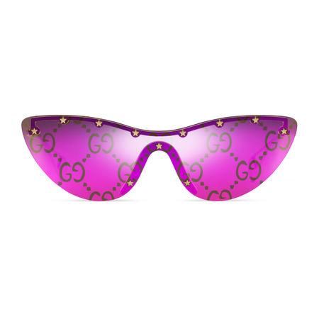 Gucci Maskensonnenbrille in Katzenaugenform lila