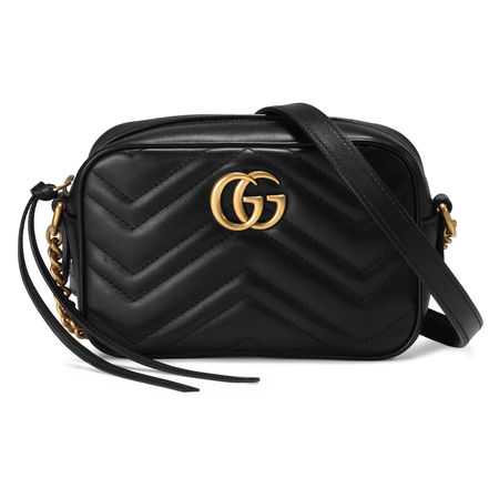 Gucci Mini-Tasche GG Marmont aus Matelassé schwarz