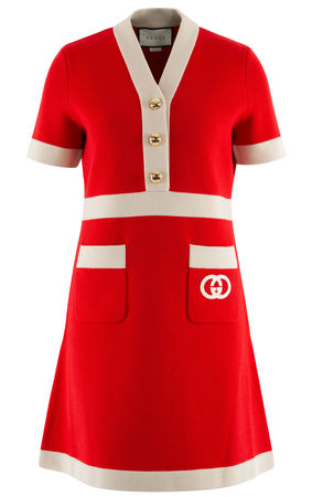 Gucci  - Minikleid aus Wolle rot