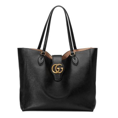 Gucci Mittelgroßer Shopper mit DoppelG schwarz