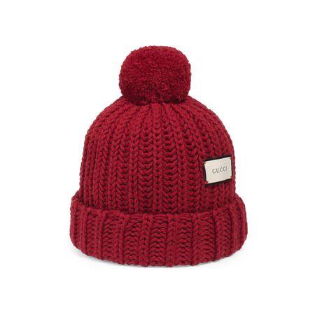 Gucci Mütze aus Wollstrick mit Etikett pink