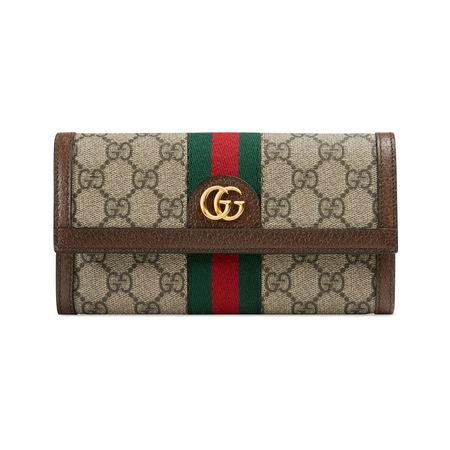 Gucci Ophidia Continental Brieftasche mit GG braun