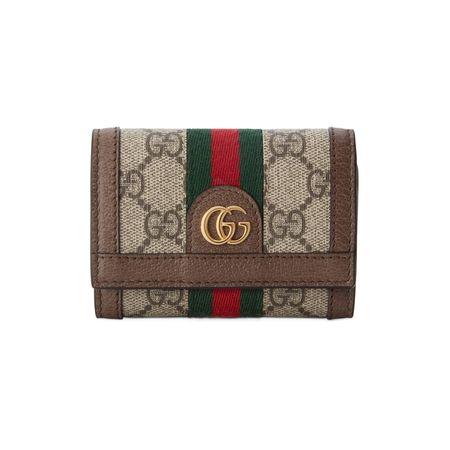 Gucci Ophidia Faltbrieftasche braun