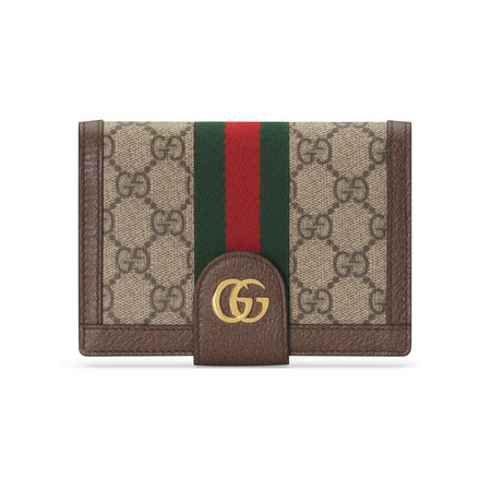 Gucci Ophidia GG Reisepasshülle braun