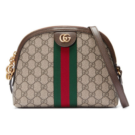 Gucci Ophidia GG Schultertasche braun