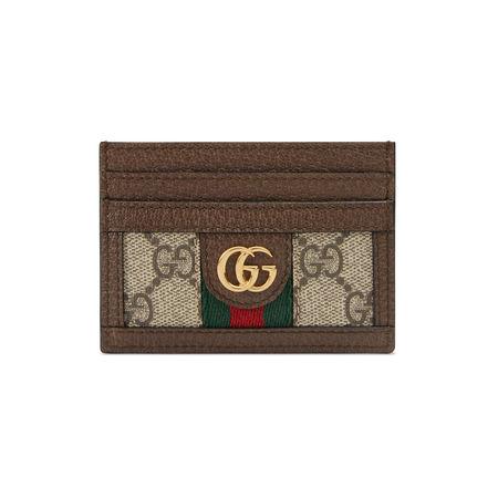 Gucci Ophidia Kartenetui mit GG braun
