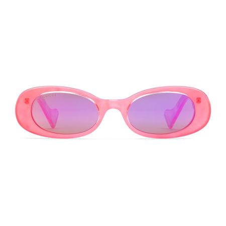 Gucci Ovale Sonnenbrille lila