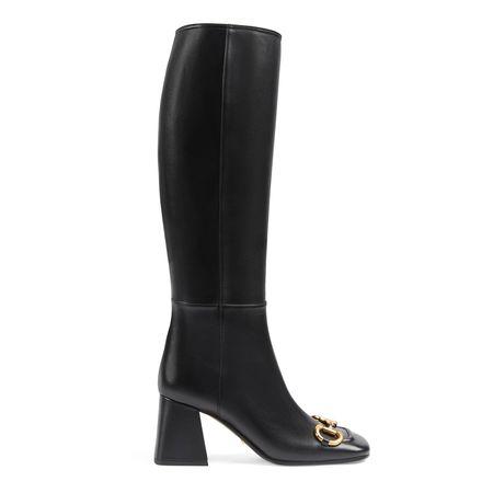 Gucci Overknee-Damenstiefel mitHorsebit schwarz