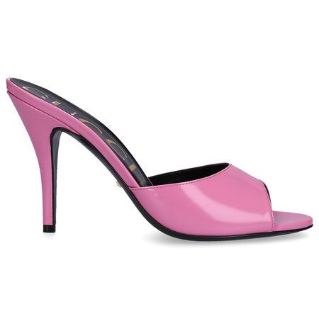 Gucci  Pantoletten CLG00 Kalbsleder  Logo rosa rosa
