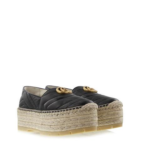 Gucci  - Plateau Espadrilles aus Leder braun