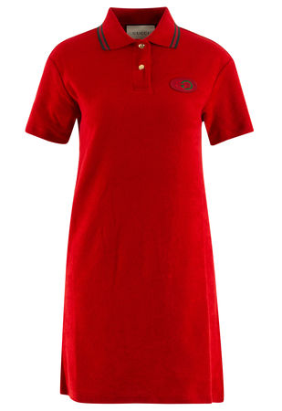 Gucci  - Polokleid aus Baumwolle rot