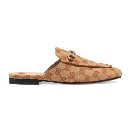 Gucci Princetown Damen-Slipper aus GG Canvas orange