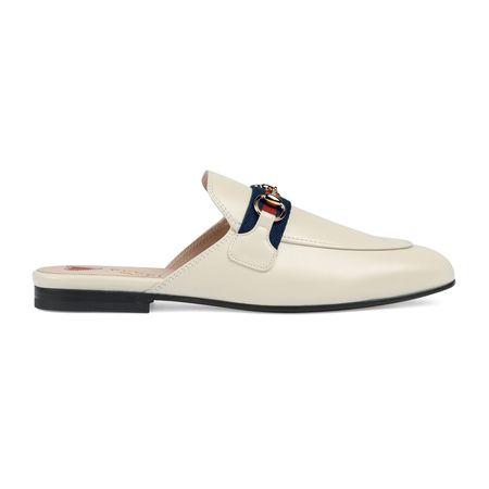 Gucci Princetown Damen-Slipper aus Leder braun