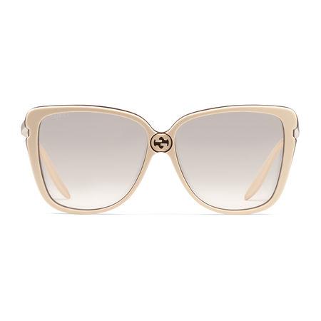 Gucci Quadratische Sonnenbrille aus Azetat braun