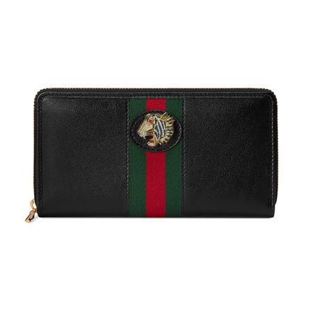 Gucci Rajah Brieftasche mit Rundumreißverschluss schwarz