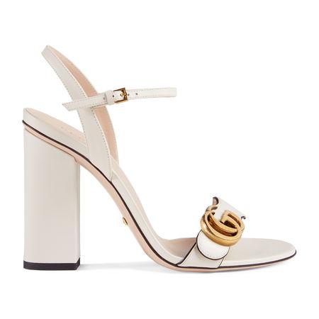 Gucci Sandale aus Leder braun